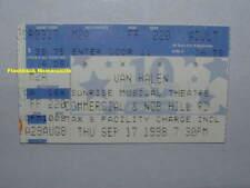Van Halen 1998 Concert Ticket Stub Sunrise Musical Theatre Fort Lauderdale Rare
