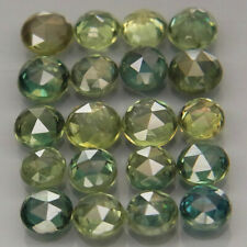 Round 3.2 to 3.5 mm.Awesome Blue Green Sapphire Songea, Africa 20Pcs/4.20Ct.