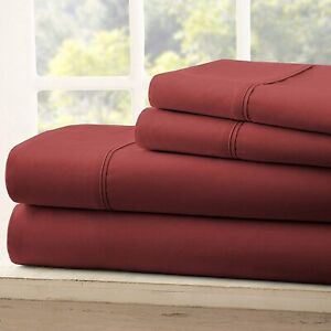 Solid Attached Waterbed Sheet Set 600 TC 100% Cotton With POLE Attachment .