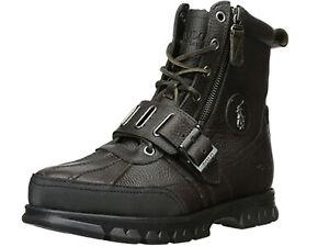 Polo Ralph Lauren Men's Andres III Black/Black Boots size 8 - NIB