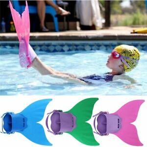 Kinder Mädchen Meerjungfrau Schwanzflosse Mermaid Monoflosse Mermaid Badeanzug