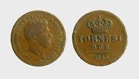 s544_47) Napoli Due Sicilie Ferdinando II (1830-1859) 2 Tornesi 1843