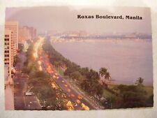 VINTAGE POSTCARD OF ROXAS BOULEVARD IN MANILA, PHILLIPPINES