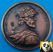 Bronze Finish Modern Medal Coin King Henry II with Relief Details Medallion