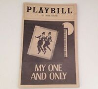 Playbill 1983 My One and Only St James Theatre Twiggy Tommy Tune Theater