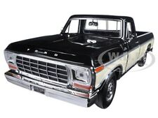 1979 FORD F-150 PICKUP TRUCK BLACK/CREAM 1/24 DIECAST MODEL CAR MOTORMAX 79346