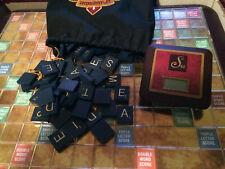 SCRABBLE GAME PARTS PCS LOT 100 BLUE WORD TILES BAG & WORKING TIMER
