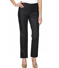 cd452178be New 8 Tall VICTORIAS SECRET Stretch Sateen Straight Leg Pants Side Zip Black