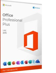 ⭐Office 2016 Professional Plus Lifetime License | 32/64-bit | 1 PC