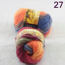 Sale Lot of 2 Skeins New Knitting Yarn Chunky Colorful Hand Wool Wrap Scarves 27