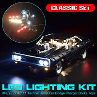 LED Licht Beleuchtung Set Für lego 42111 Technic Doms Für Dodge Charger Steine