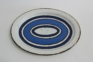 Stonehenge Midwinter Moon Steinzeug 1x Platte 24,5 x 30cm 70er 70s Design Blue