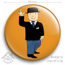"MR BENN Retro Kids TV 70s Nostalgia Badge 25mm 1"" NEW"
