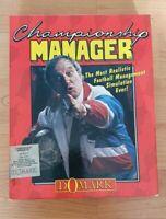 "RARE Championship Manager PC. Original Big Box 3.5"" disk. CM 93 Disk 1 Domark"