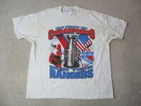 VINTAGE New York Rangers Shirt Adult Extra Large White Blue NHL Hockey 90s *