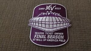 2013 Minnesota Vikings Final Season Mall Of America Field   Patch New