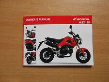 Fahrerhandbuch Owner´s manual  Honda Msx 125 (JC61) Modell 2013