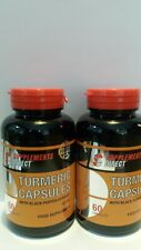 BEST UK STRONGEST TURMERIC BLACK PEPPER CAPSULES X 120 POWERFUL ANTIOXIDANTS ❎