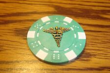 CADUCEUS-ASCLEPIUS Snake/Serpent Medical Emblem Poker Chip,Golf Ball Marker