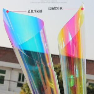 Rainbow Dichroic Colorful Window Film Beautiful Iridescent GLass Sticker