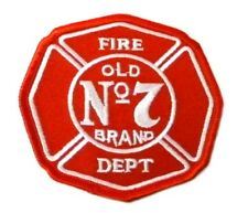 Fire Dept Old No7 Brand Red Embroidered Patch Firefighter Fire Department New