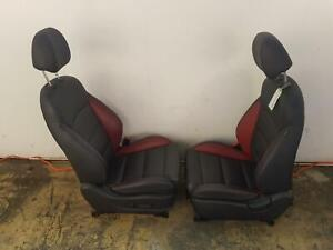 HYUNDAI I30 SEAT KIT BLACK & RED LEATHER COMPLETE INTERIOR HATCH 03/12-02/17