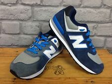 NEW BALANCE 574 LADIES UK 3 EU 35.5 BLUE SUEDE TRAINERS RRP £65