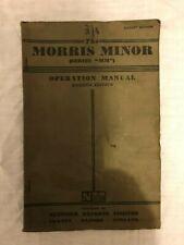 "Morris Minor (Series ""MM"") Operation Manual Seventh Edition"