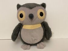 """KOHL'S CARE FOR KIDS 9"""" GRAY OWL AESOPS FABLES PLUSH STUFFED ANIMAL TOY Gift"""