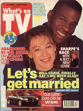 WHAT'S ON TV 4/96 Anthony Valentine Albert Finney Caroline Langrishe