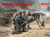 ICM 35711 - 1/35 WWI German MG08 MG Team (2 figures), scale plastic model kit