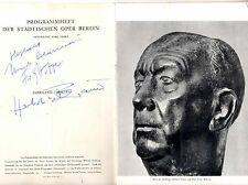 Autograph Autogramm Oper 1995 Herbert Bauer Fritz Hoppe  Singer Sänger Bühne 196