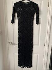 long sleeve black lace maxi dress