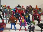 Mixed DC Marvel Superhero Figure Lot Legends, Batman, Green Goblin, Spider-Man
