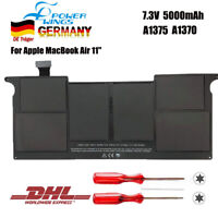 "A1375 Akkus für Apple MacBook Air 11"" A1370 Late 2010 MC505 MC506 7.3V 5000mAh"