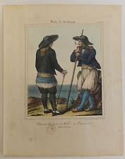 Finistère Lithographies Costumes Bretons Paysans Pont l'Abbé  St Theogonnec