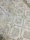 Vintage Popcorn stitched Crocheted Bedspread Coverlet Tablecloth 100 x 83