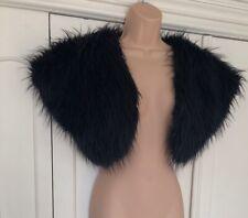 Black Faux Fur Shrug Bolero S/M 10 12