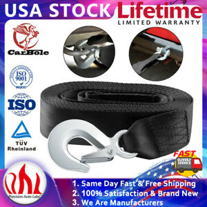 """10000LB MAX DELUXE BOAT TRAILER REPLACEMENT WINCH STRAP  2""""*20' WITH SNAP HOOK"""