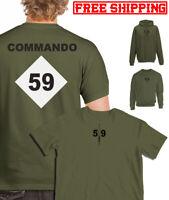 59 COMMANDO SQUADRON ROYAL ENGINEERS RE CDO SQN marines 24 SAPPER spr TSHIRT