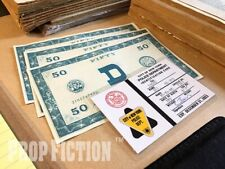 Soylent Green - Prop NYPD New York Police ID Card & D Money Banknotes