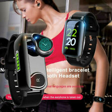 2 in 1 Bluetooth Smart Watch Handsfree Earpiece Headset for Android Ios iPhone #