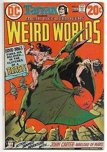 Weird Worlds #4 (DC, 1973) – John Carter, Warlord of Mars – David Innes – FN