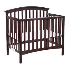 Pine Wood Baby CribToddler Bed Convertible Nursery Infant Newborn Coffee