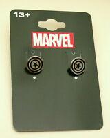 Marvel Comics Avengers Captain America Shield Earrings New NOS MOC