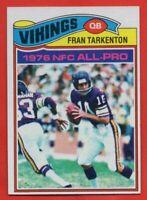 1977 Topps #400 Fran Tarkenton NEAR MINT/MINT Minnesota Vikings FREE SHIPPING
