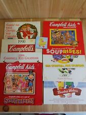 Vintage CAMPBELLS SOUP Calendars Lot of 8 1984 Olympic Year Thru 2000