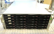 Supermicro CSE-847 36HDD BAYS + XEON E5620 +24GB RAM - INCLUDES 72TB OF SATA HDD
