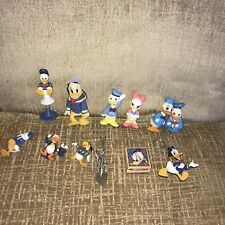 Lot DONALD & DAISY DUCK Figures Toys Toppers Disney PVC Magnet Keychain Ceramic
