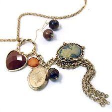 Acrylic Mixed Metals Charm Costume Necklaces & Pendants